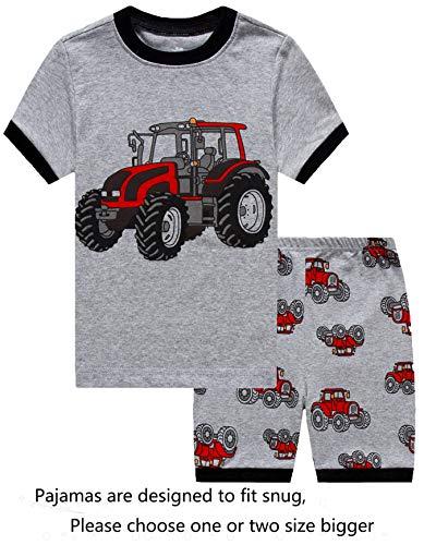 IF Pajamas Little Boys Snug-Fit Pajamas 100% Cotton Grey Pjs Clothes Kid 6
