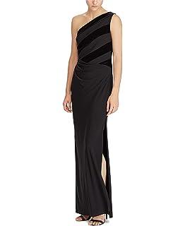 4cdf95bafeb Lauren Ralph Lauren Women s Satin-Trim Ruched Jersey Gown Dress-B-2 ...