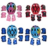 WOLFBUSH-Butterfly-Helmet-Kids-Multi-Sports-Safety-Protective-Gear-Set-for-Child-5-13-for-Cycling-Skateboarding-Skating-Scooter-Bike-Knee-Elbow-Wrist-Pads