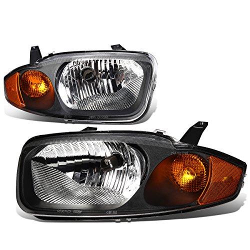 Chevy Cavalier 3rd Gen Sedan Pair of Black Housing Amber Corner Headlight Lamp
