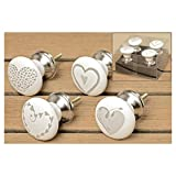 Furniture Handle Hearts 4p 4x6cm
