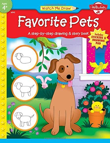 Read Online By Jenna WinterbergFavorite Pets: A step-by-step drawing and story book for preschoolers (Watch Me Draw)[Paperback] PDF ePub ebook