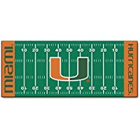 University of Miami Football Field Runner 30x72 Fan Mats Area Rug