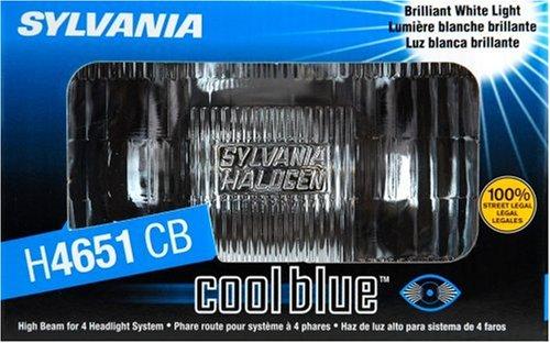 Sylvania H4651 CB Cool Blue Rectangular Halogen Headlight Bulb (50 Watt High Beam), (Pack of 1)