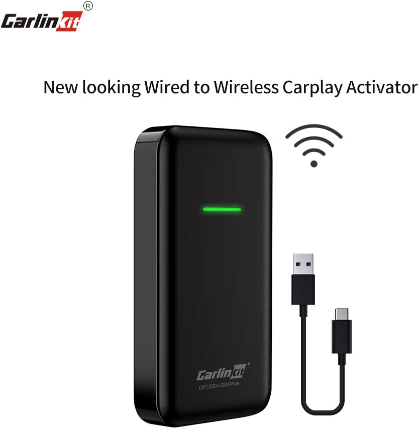 Carlinkit Wired to Wireless carplay Activator for The Audi Volvo Porsche Volkswagen DS7 Hyundai car with Wired carplay Plug and Play Support ios13