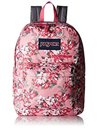 Jansport Digibreak Backpack - prism pink pretty posey, one size