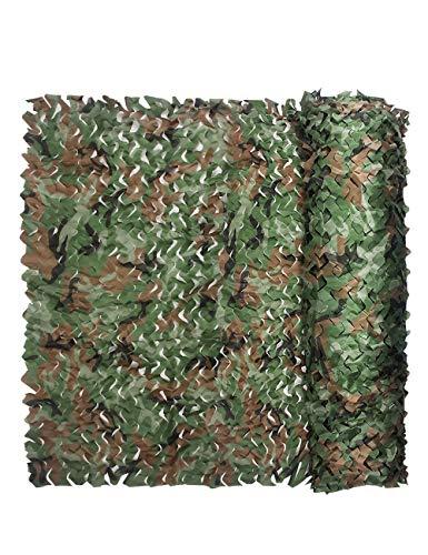 WNZP Tarnnetz - Waldthemapartydekorations-Tarnnettarnetz Kampierendes Armeejagdschießen-Sonnenschutznetz des Feldes