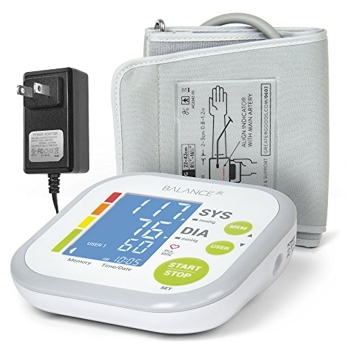 Balance Blood Pressure Monitor Kit with Upper Arm Cuff, Digital BP Meter With Large Display, Set also comes with Tubing and Device - Monitor Stethoscope Blood Pressure