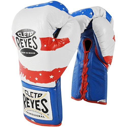 Cleto Reyes Professional Fight Gloves - Official/Safetec (USA Flag (Official Boxing Gloves), 10-Ounce)