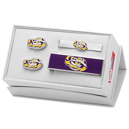 NCAA LSU Tiger's Eye 3 Piece Gift Set by Cufflinks, Inc.