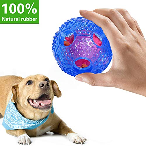 LIHEXING Dog Chew Toy – IQ Treat Ball Food Dispensing Interactive Toys -Rubber Leak Food Chew Ball – Cleans Teeth for Small Medium Large Dogs