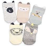 CoCoCute Baby Infant Socks 5 Pack Kids Socks Toddlers Socks Girls Boys Cotton Socks (XS(0-12M), Mid-1)