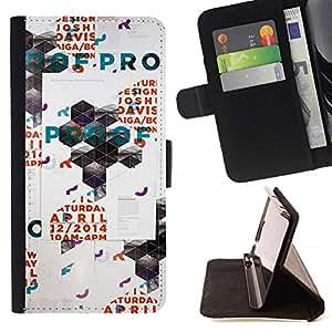 Momo Phone Case / Flip Funda de Cuero Case Cover - Arte Polígono Poster Pared Rave Evento - Samsung Galaxy Note 5 5th N9200