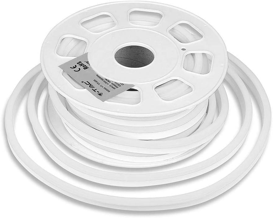 LED Neon Flex 24 V blanco frío 6000 K 160° IP65 - Bobina 10 m