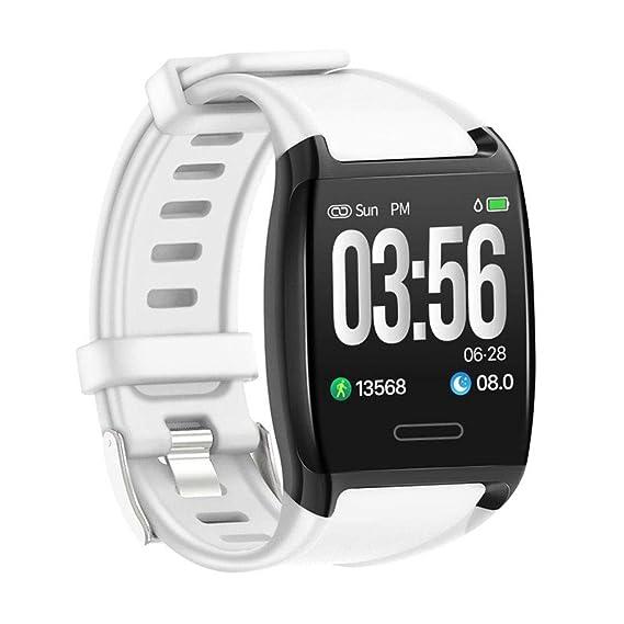 Amazon.com: LEMFO V2 inteligente de 1,3 pulgadas pulsera IP67 impermeable rastreador de ejercicios de presión arterial reloj Banda rastreador de actividad ...