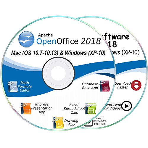 Office Suite 2018 for Mac & Windows 10, 8.1, 8, 7, Vista, XP + Office Essentials Software DVD & Templates *2 CD