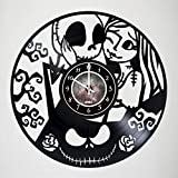 Nightmare before Christmas Vinyl Record Wall Clock – Poster – Ornaments – Room wall decor – Gift ideas for teens, friends, boyfriend, girlfriend – Unique Modern Wall Art Design – Gift for him or her For Sale