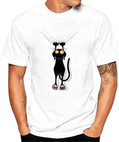 Kinlene Camiseta Hombre, Camisetas manga corta hombre Baratas Camisas Deportivas de Hombre Tops Blusa Camiseta Térmica de Compresión Camisetas Hombre Camisas blanca(Blanco 2, XXL): Amazon.es: Ropa y accesorios