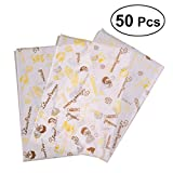 BESTOMZ 50 Sheets Food Wrapping Papers Grease Resistant Sandwich Hamburger wrapping Papers (1405)