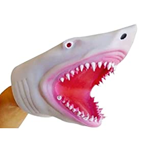 Soft Silicone Great White Megalodon Shark Hand Puppet
