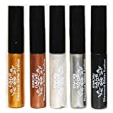 Diamond Glitter & Shimmer Style 10 Piece Liquid Eyeliner Eyeshadow Color Set + Microfiber Pouch Bag