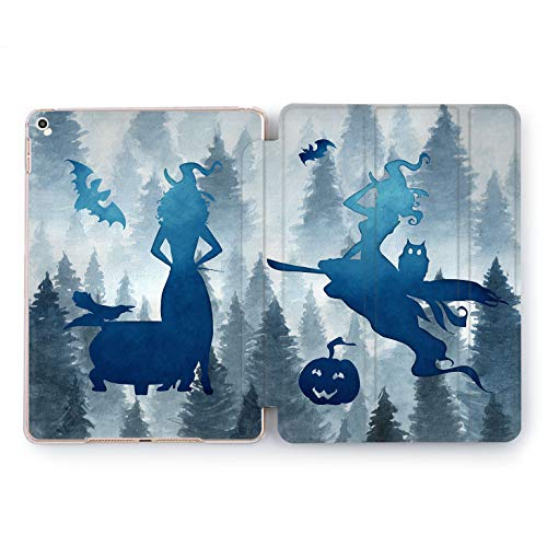 Wonder Wild Blue Witch iPad Pro Case 9.7 11 inch Mini 1 2 3 4 Air 2 10.5 12.9 2018 2017 Design 5th 6th Gen Clear Smart Hard Cover Forest Halloween Broom Jack O Lantern Silhouette Warlock Girly Bat]()