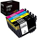 Lemero Remanufactured Ink Cartridge Replacement for Epson WF-2760 ( Black,Cyan,Magenta,Yellow , 5-Pack )