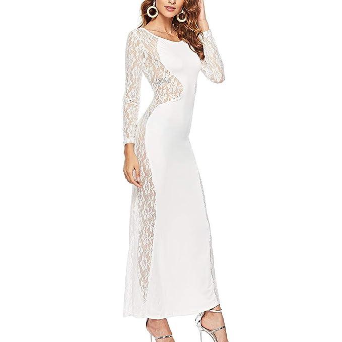 Vestido de Noche Fiesta Largo Ajustado Sexy para Mujer Primavera ...