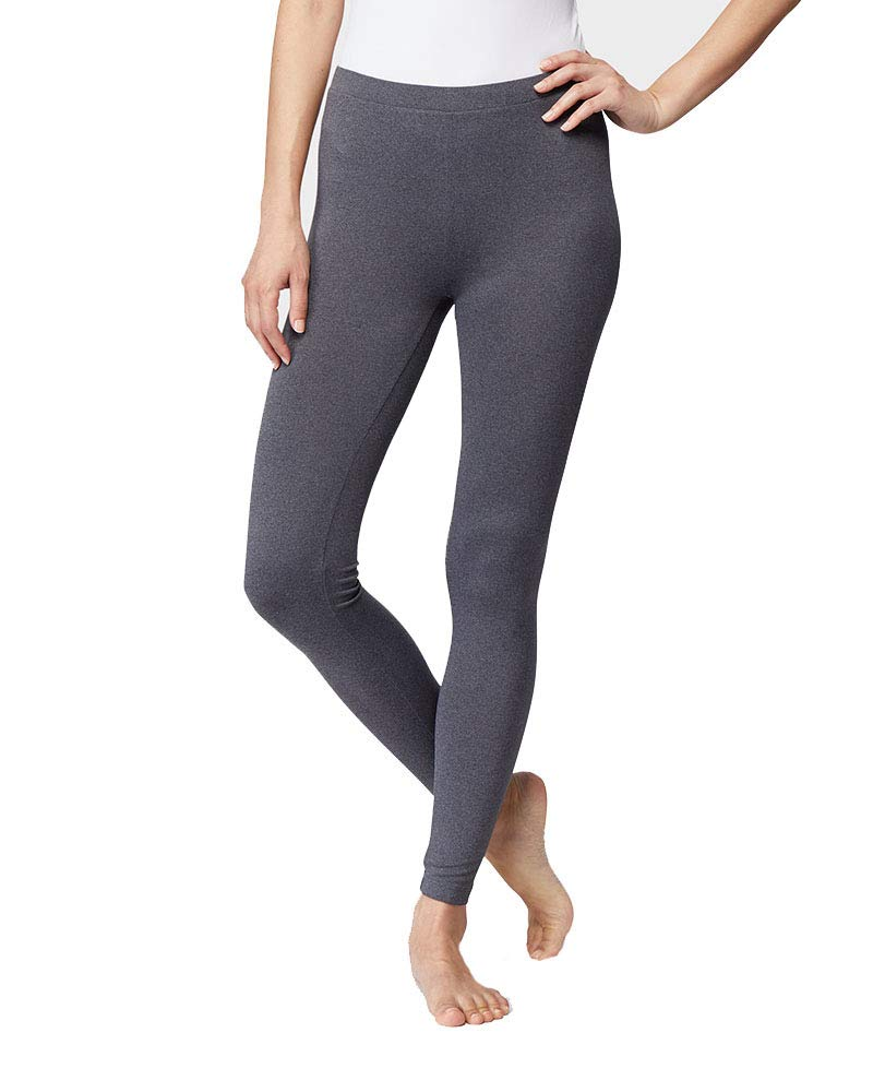 32 DEGREES Womens Lightweight Baselayer Legging, Charcoal Heather, Size XXLarge by 32 DEGREES