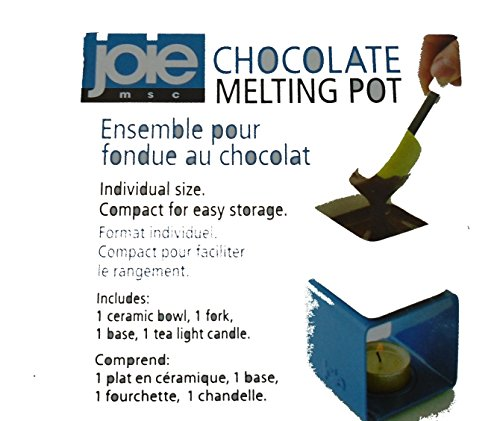 Joie Chocolate Melting Fondue Pot, Blue