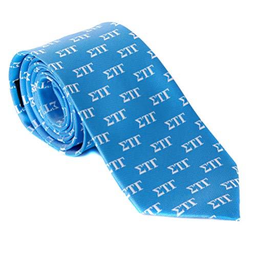 Sigma Tau Gamma Fraternity Necktie Tie Greek Formal Occasion Standard Length Width sig tau (Letter Necktie)