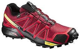 Salomon Men\'s Speedcross 4 GTX Trail Running Shoes Brique / Radiant Red 7.5