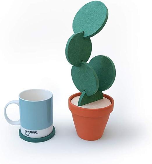 Cactus Cactus En Forma De Copa Cerveza De Bricolaje Posavasos Posavasos Redonda Decoraci/ón De La Tabla Del Aislamiento De Calor Antideslizante Creativo Del Coj/ín Para Ministerio Decoraci/ón De La Barra