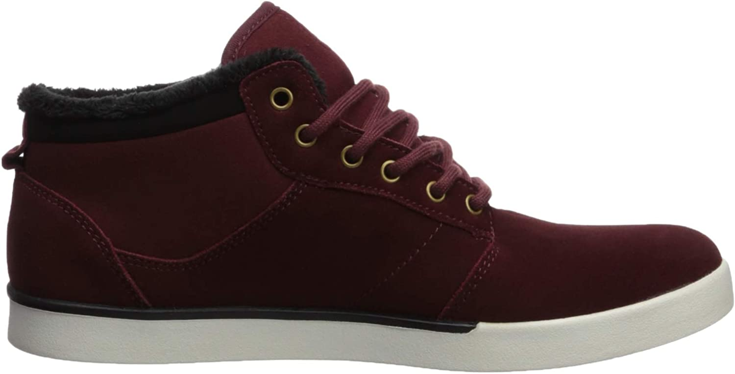 Etnies Men's Jefferson Mid Skate Shoe Burgundy/Gold