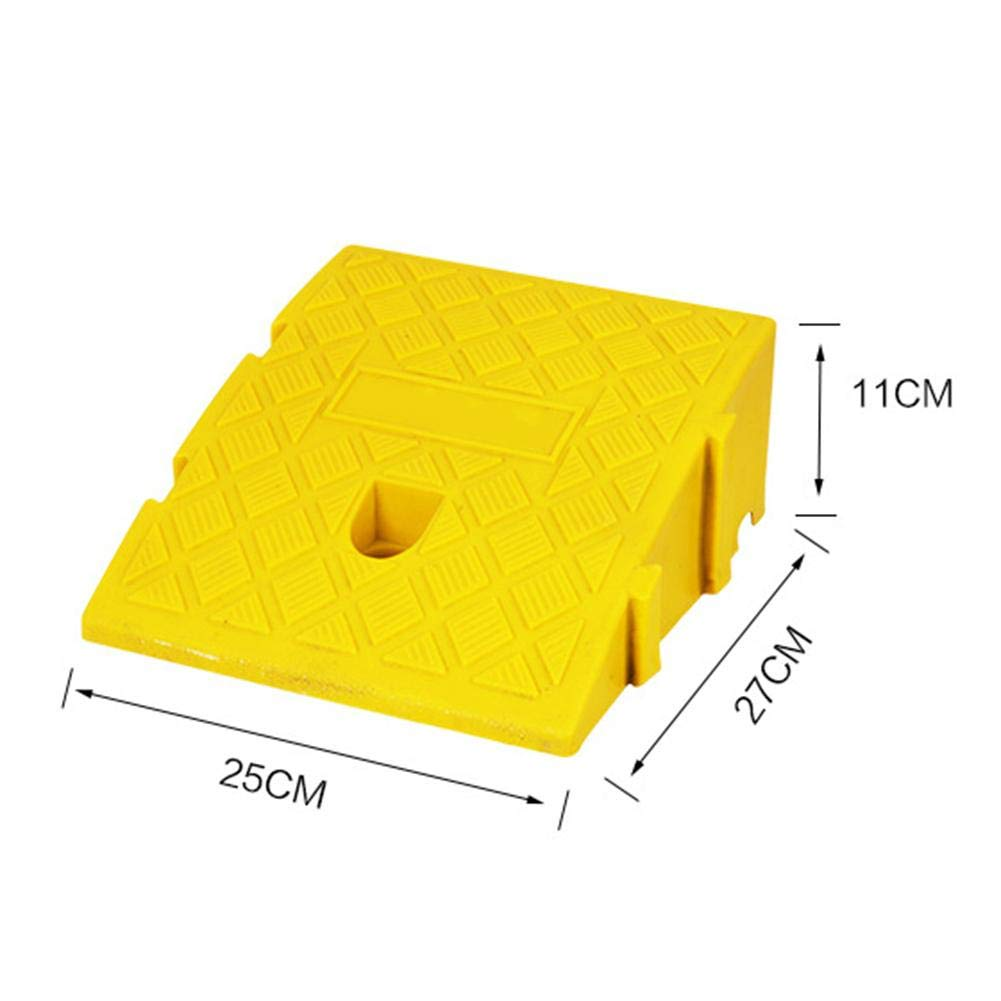 9.84 X 10.63 X 5.12 Inch PVC Heavy Duty Rubber Threshold Ramp Pressure Resistant 3 to 9 Inch Rise for Car Trailer Truck Bike Motorcycle Portable Plastic Curb Ramps