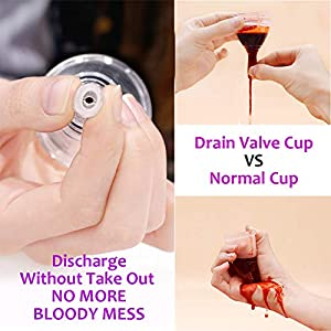 AIWO Menstrual Cup -Sterilized Pack & Unique Discharge Valve - Empty Your Cup Without Take Out - Organic Menstrual Cup Set for Women - Tampon and Pad Alternative - Feminine Hygiene Protection