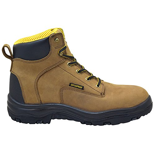 "EVER BOOTS ""Ultra Dry"" Men's Premium Leather Waterproof Work Boots Insulated Rubber Outsole 2"