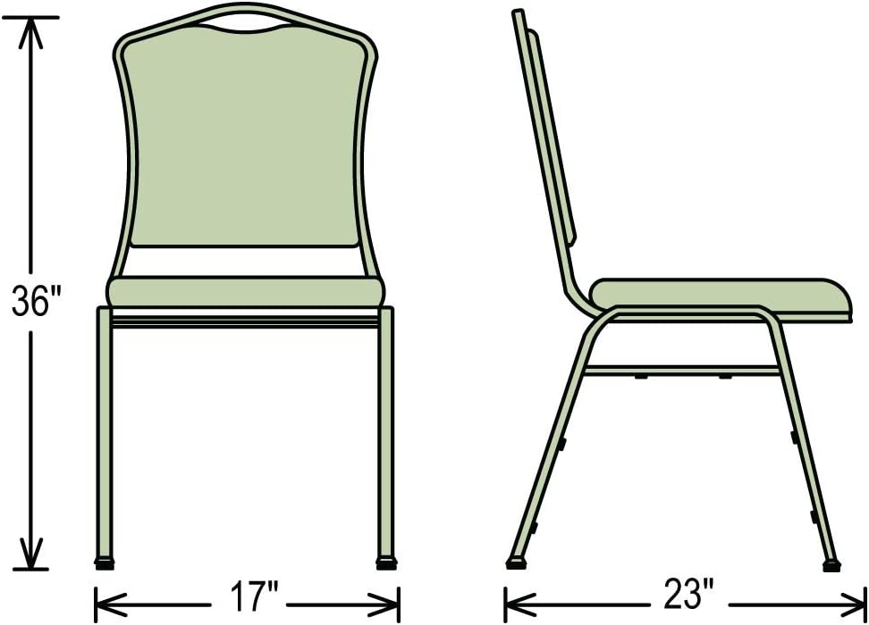 National Public Seating Silhouette Fabric Padded Upholstered Stack Chairs