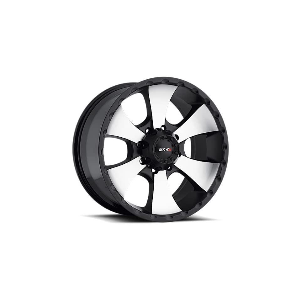 MKW Offroad M19 18 Black Machined Wheel / Rim 8x6.5 with a 10mm Offset and a 130.80 Hub Bore. Partnumber M19 1890816510BM Automotive