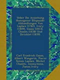 img - for Ueber Die Anziehung Homogener Ellipsoide: Abhandlungen Von Laplace (1782), Ivory (1809), Gauss (1813), Chasles (1838) Und Dirichlet (1839). (German Edition) book / textbook / text book