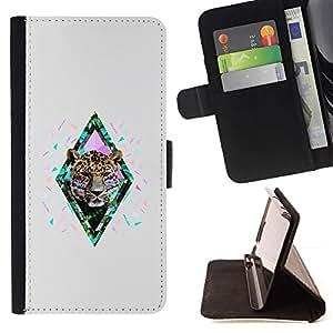 Momo Phone Case / Flip Funda de Cuero Case Cover - Guepardo Naturaleza abstracta Africana - Sony Xperia Z1 L39