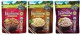 Lundberg Organic Thai Hom Mali Rice 3 Flavor Variety Bundle, (1) Each: Red, Brown, and Red & White, 8 Oz Ea