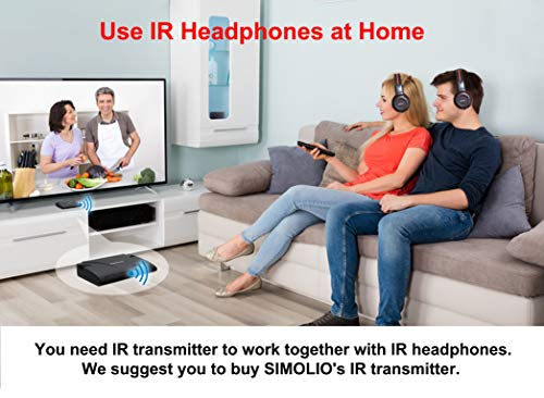 2 Pack of Wireless Car Headphones, Wireless Headphones for Kids, in Car Wireless Headphones with Travelling Bag for Universal Rear Entertainment System, 2 Channel Wireless Headphones by SIMOLIO (Image #7)