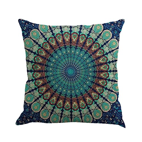 Kimloog Hot Sale!Mandala Pillow Case Bohemia Design Indoor Outdoor Decorative Square Cushion Cov ...