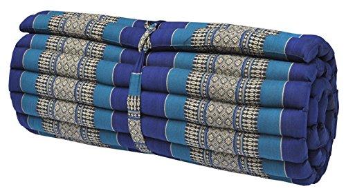 Thai mattress big size (75/180), blue, relaxation, beach cushion, pool, meditation, yoga (82214) by Wilai GmbH