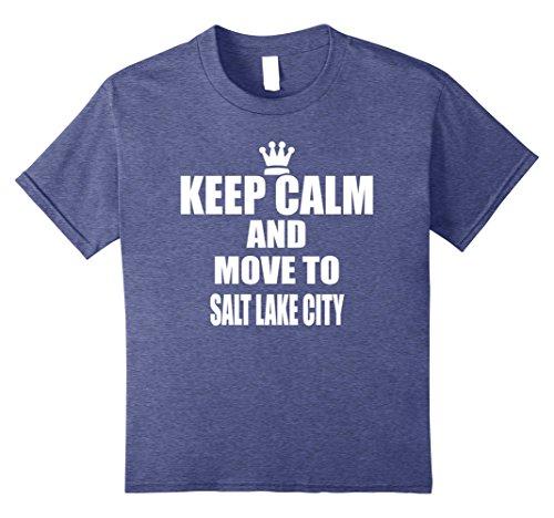 unisex-child Keep Calm Move Salt Lake Utah State Town City USA T Shirt 12 Heather - City Lake Salt Fashion Place