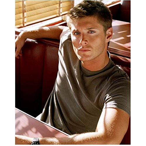 Sexy Dean Winchester Sitting in Booth at Cafe - 8x10 Photograph / Photo - HQ - Supernatural Jensen Ackles
