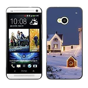 YOYO Slim PC / Aluminium Case Cover Armor Shell Portection //Christmas Holiday Dog 1306 //HTC One M7