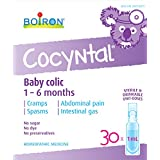 Boiron Cocyntal Baby Colic Relief Medicine, 30 Unit-Doses (1 ml Each), Homeopathic Medicine for Relief of Baby Colic Symptoms Like Abdominal Pain, Cramps, Intestinal Gas, Sugar-Free, Dye-Free