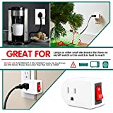 Grounded Outlet Adapter, ANKO ETL Listed Wall Tap